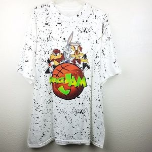 SPACE JAME Looney Tunes Paint Splatter T-shirt